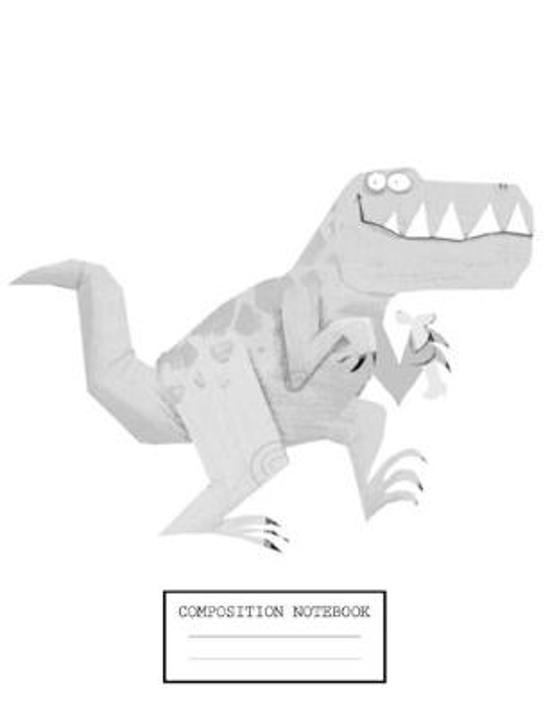 Composition Notebook: Dinosaur Glossy Cover Wide Ruled Blank Lined Soft Cover Students Kids Elementary School Journal Paper 7.44 x 9.69 Inch