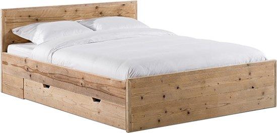 Bed 210 160.Bol Com Steigerhouten Bed Met Lade 160 Cm X 210 Cm