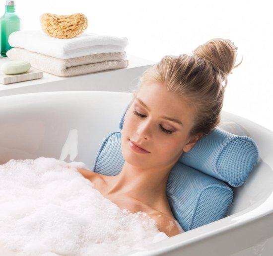 HomeSpa Badkussen - voor nek en rug - Aquablauw