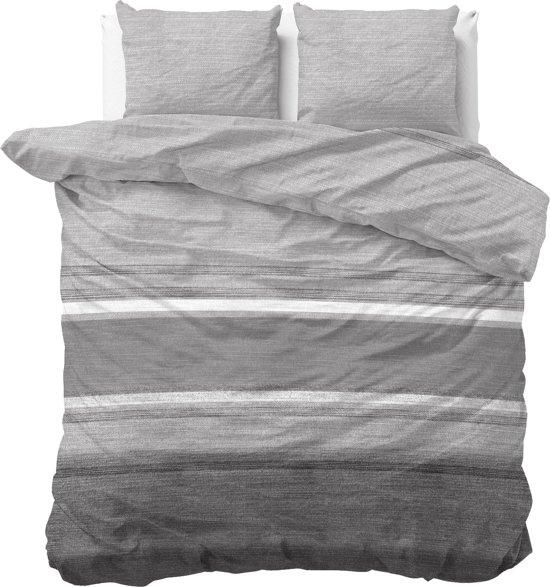 Sleeptime Stone Stripe - Dekbedovertrekset - Tweepersoons - 200x200/220 + 2 kussenslopen 60x70 - Grijs