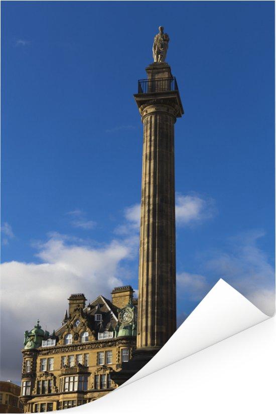 Het Grey's Monument in Newcastle-upon-Tyne Poster 40x60 cm - Foto print op Poster (wanddecoratie woonkamer / slaapkamer) / Europese steden Poster