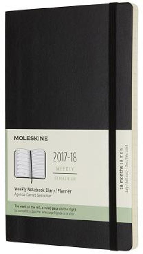 Moleskine 18 Months Weekly Planner 2017/2018 - Large - Black - Soft Cover