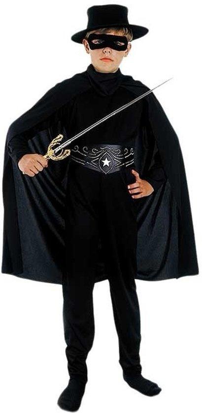 Compleet Zorro kostuum voor kinderen 130-140 (10-12 jaar)