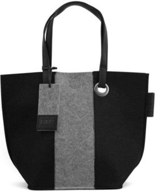 a40b2fb1fdb bol.com | Zebra Natural Bag - SHOPPER zwart & grijs 2-color