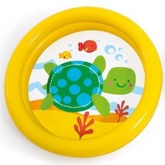 Baby/kinder opblaas zwembad geel 61 cm