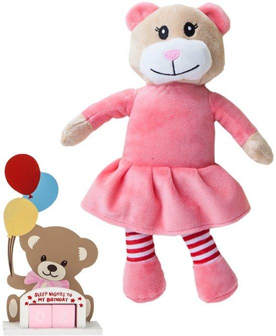 Pms Verjaardagsbeer 29 X 11 Cm Roze