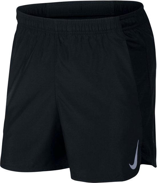 Nike Challenger Short 5In Bf Sportbroek Heren - Black/Black/(Reflective Silv) - Maat XL