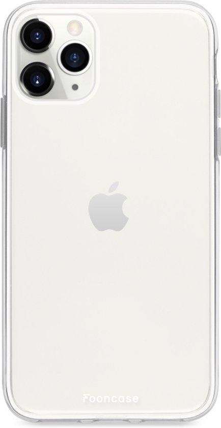 FOONCASE iPhone 11 Pro Max hoesje TPU Soft Case - Back Cover - Transparant / Doorzichtig