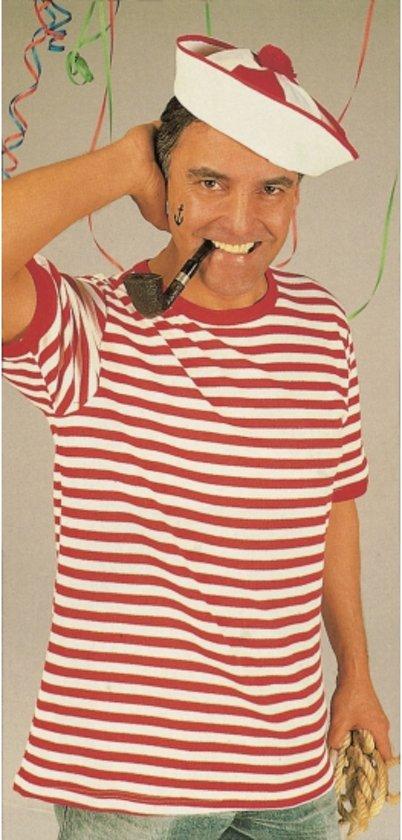Dorus shirt rood met wit korte mouw XL