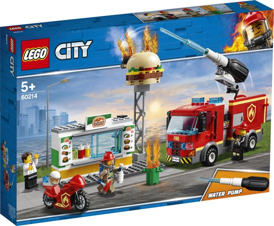 Afbeelding van LEGO City Brand bij het Hamburgerrestaurant - 60214 speelgoed