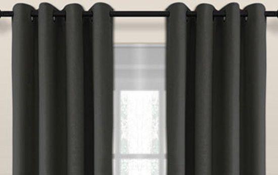 larson luxe blackout gordijn verduisterend ringen donker grijs 15x25m