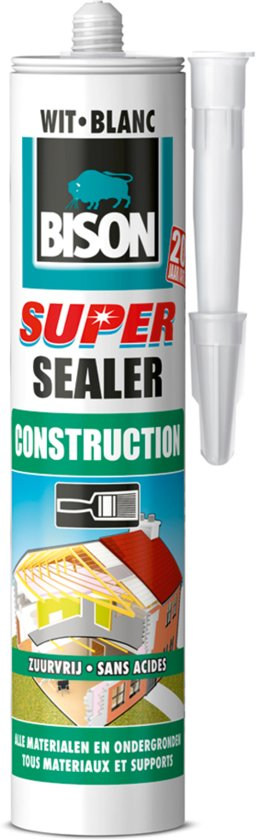 Bison Super Sealer Construction Wit - 290 ml