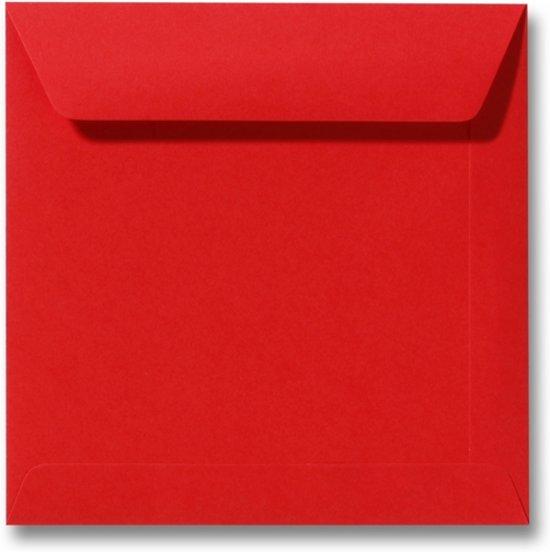 Envelop 22 x 22 Koraalrood, 100 stuks