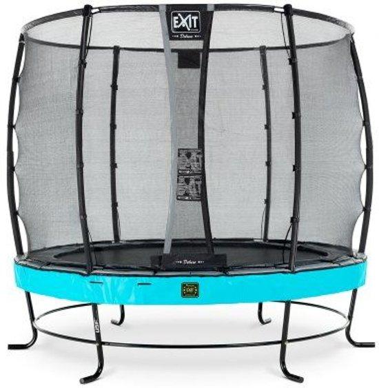 EXIT Elegant Premium trampoline ø305cm met veiligheidsnet Economy - blauw