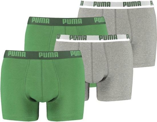 5d75d4a7b62 bol.com | PUMA Basic Boxershort - 4-pack - Groen/Grijs - Maat S