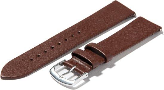 Montanello horlogeband leer - bruin - 18mm - soepel kalfsleer - klassiek - zonder stiksel