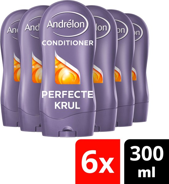 Andrélon Perfecte Krul Conditioner - 6 x 300 ml  - Voordeelverpakking