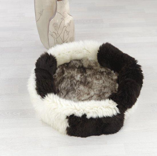 Kattenmand - Kattenhuis van echte lamsvacht - schapenvachtje - 50cm