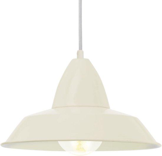 bol.com | EGLO Vintage - Hanglamp - 1 Lichts - Ø 260 mm - Zandkleur