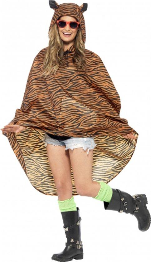 Party regenponcho tijger