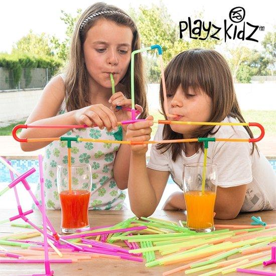 Playz Kidz Spel met Drinkrietjes - 194-delig