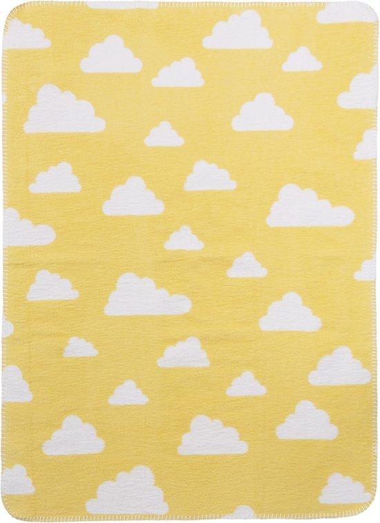 Meyco Little Clouds wiegdeken - 75 x 100 cm - geel