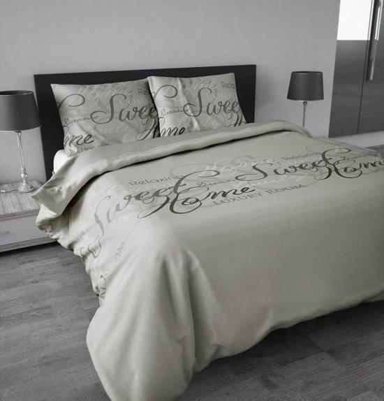 Sleeptime Royal Luxury - Dekbedovertrek - Eenpersoons - 140x200/220 cm + 1 kussensloop 60x70 cm - Zand