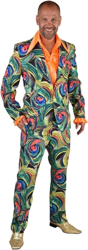 Feesten & Gelegenheden Kostuum | Groen Funky Cirkels Aquarel | Man | Extra Small | Carnaval kostuum | Verkleedkleding