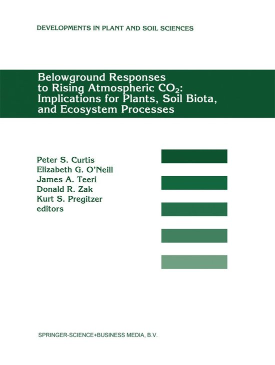 Boekomslag voor Belowground Responses to Rising Atmospheric CO2: Implications for Plants, Soil Biota, and Ecosystem Processes