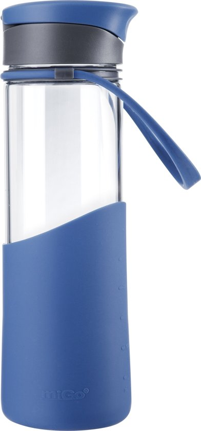 Aladdin Migo Waterfles - Glas - On The Go - 500 ml - Blauw