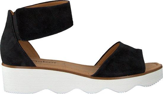 f816b588c1cb9e Gabor Dames Sandalen 610 - Zwart - Maat 40