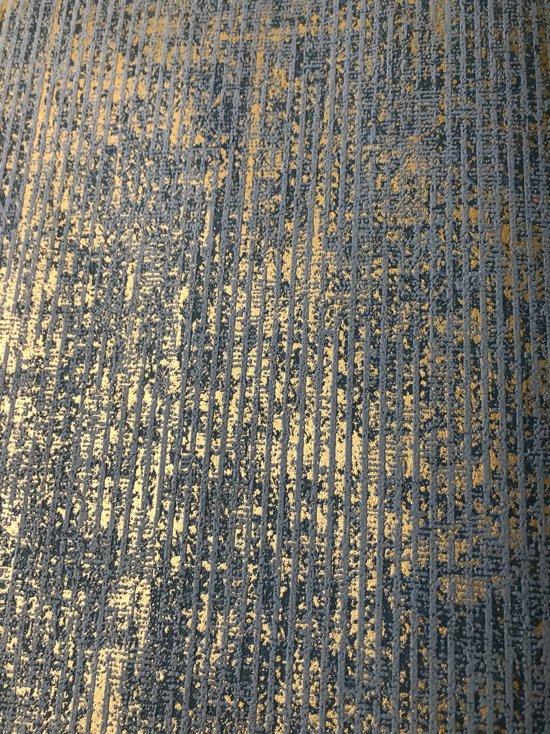 Behang Met Afbeelding.Bol Com Behang Glanzend Blauw Goud