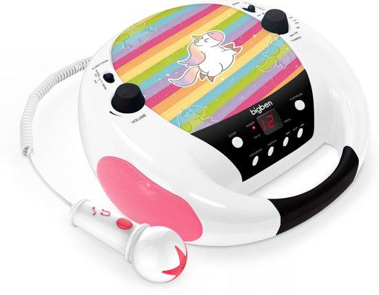 Bigben Draagbare CD-Speler met Microfoon - Eenhoorn/Unicorn - Roze