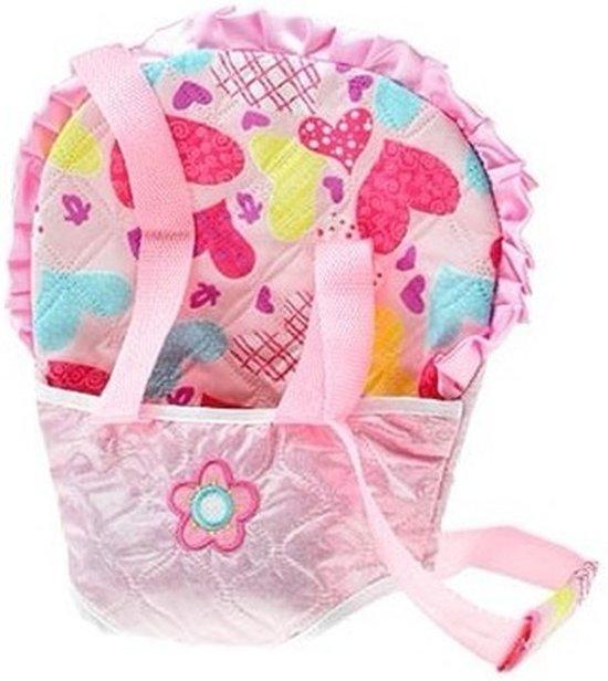 Babypoppen draagzakken roze - Speelgoed poppendrager lichtroze