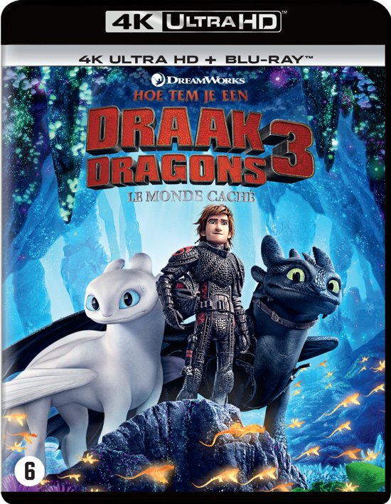 DVD cover van Hoe Tem Je Een Draak 3 (How To Train Your Dragon 3)(4K Ultra Hd Blu-ray)