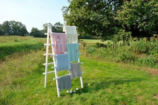 Jollein Little Naturals Drops - Wiegdeken 75x100 cm - Roze