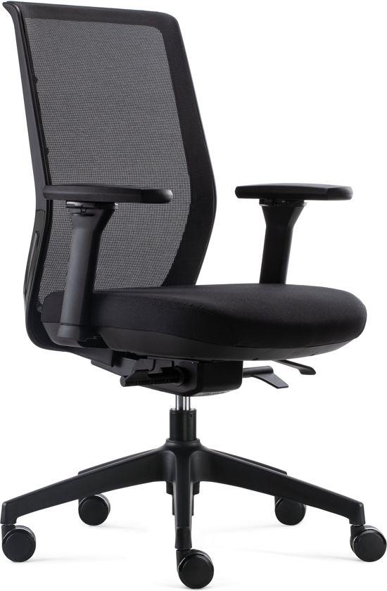 Goede Bureaustoel Voor Rug.Bens 837 Synchro 4 Ergonomische Bureaustoel Met Alle Instel Opties Voldoet Aan En1335 En De Arbo Normen Zwart Zwart