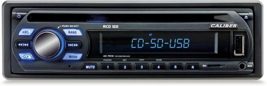 Caliber RCD122 - Autoradio met FM radio - 1 din - Zwart