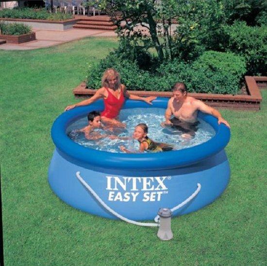 intex 28112GS (oud nr. 56972) zwembad easyset 244x76 cm inclusief 12V filterpomp