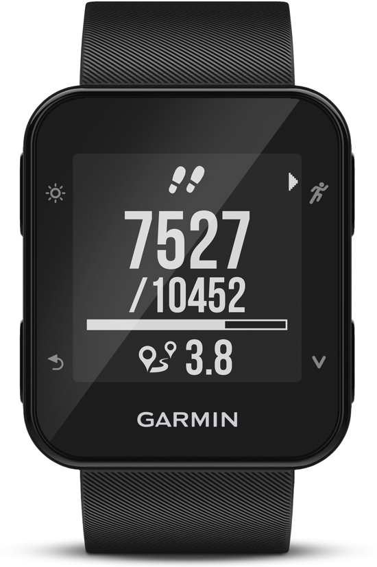 Garmin Forerunner 35 black - GPS Harloophorloge - met polshartslag meting -  35,5 x 40,7 mm - zwart