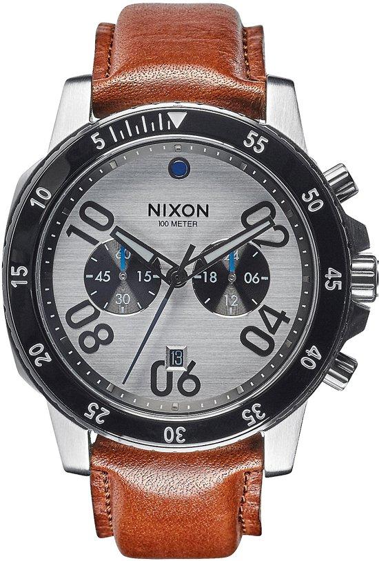 Nixon Ranger Chrono Leather Silver Saddle