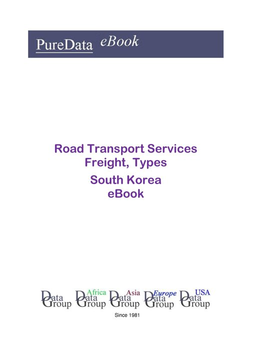 Road Transport Services Freight, Types in South Korea