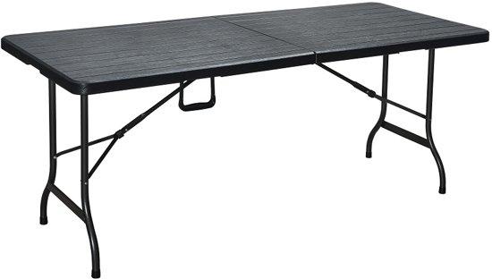 Erro Storage Kunststof vouwtafel houtlook zwart ERRO491803