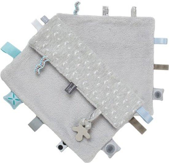 Snoozebaby Knuffeldoekje Sweet Dreaming (25 x 25cm) Lovely Grey