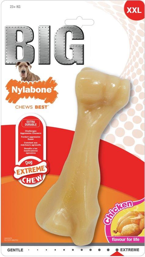 Nylabone Extreem Harde Bijter Big Chew Beefbone HOND ZWAARDER DAN 23 kg