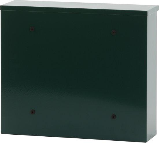Stalen brievenbus groen - 11x36x31,5 cm