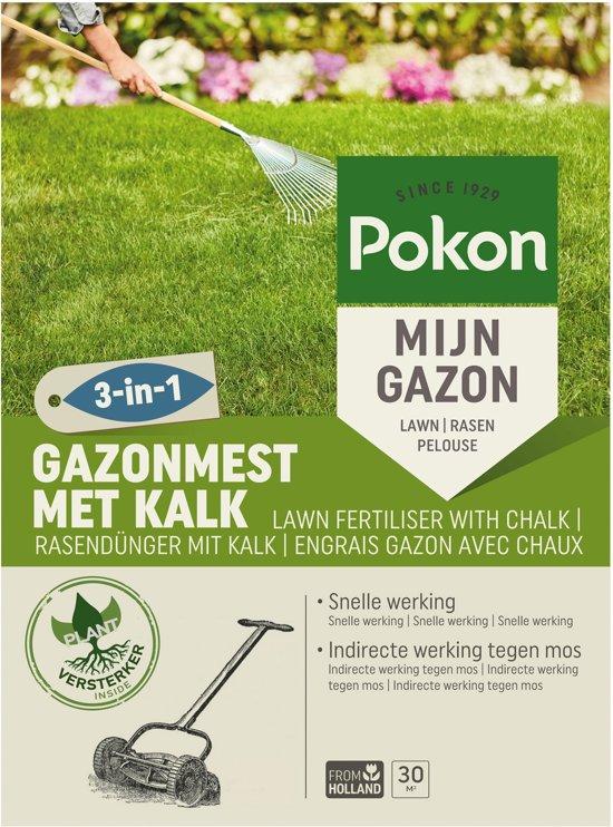 gazonmest Pokon met kalk 30 m² 3 in 1