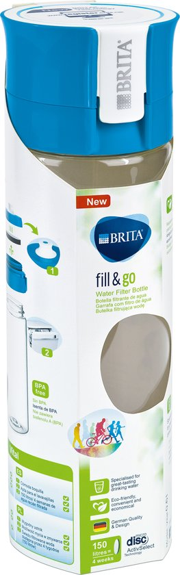 BRITA fill&go Vital Waterfilterfles - Blue