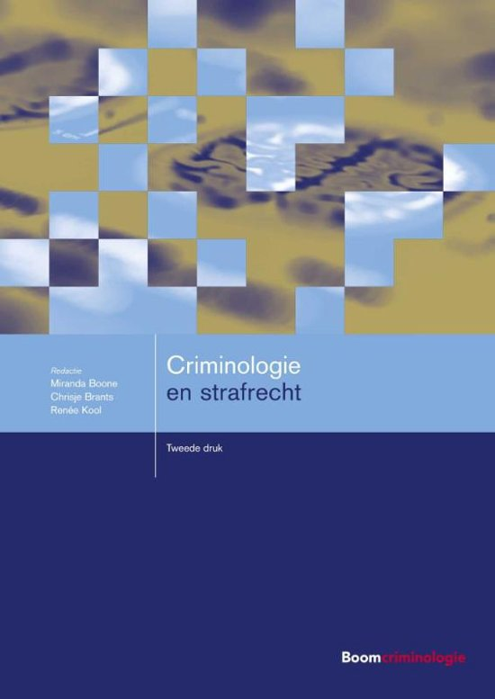 Boom studieboeken criminologie Criminologie en strafrecht