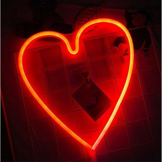 bol.com | Hartje rood lamp led verlichting neon look hart